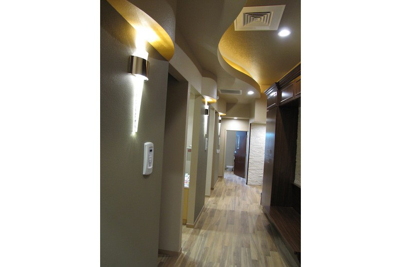 Dental office design corridor