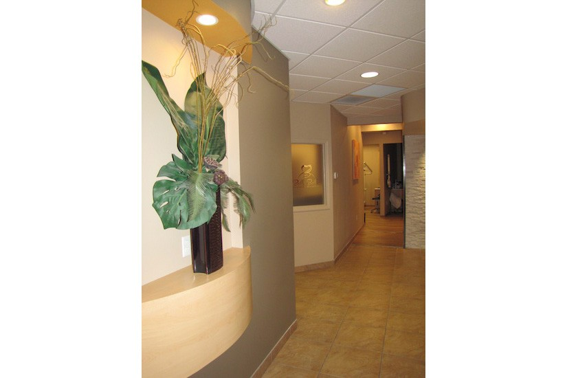 Dentist office hallway design