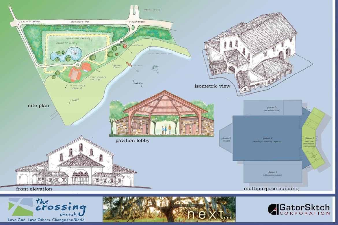The Crossings Church Concept Drawing