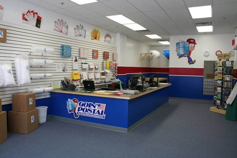 Goin Postal Interior retail design